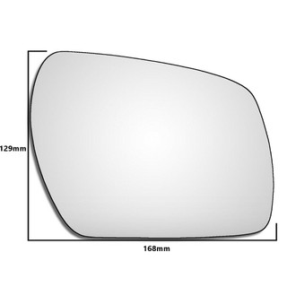 Right Hand Drivers Side Ford Fusion 2009-2015 Convex Wing Door Mirror Glass