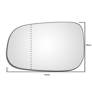 Left Hand Passenger Side Volvo C30 2006-2009 Wide Angle Wing Door Mirror Glass
