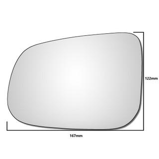 Left Hand Passenger Side Volvo C70 2010-2014 Convex Wing Door Mirror Glass
