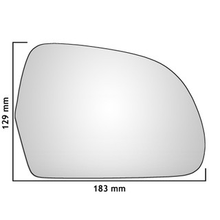 Right Hand Drivers Side Audi A6 / S6 C6 2008-2012 Convex Wing Door Mirror Glass