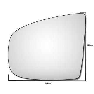 Left Hand Passenger Side BMW X6 E71 E72 2008-2014 Convex Wing Door Mirror Glass