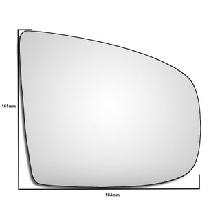 Right Hand Drivers Side BMW X6 E71 E72 2008-2014 Convex Wing Door Mirror Glass