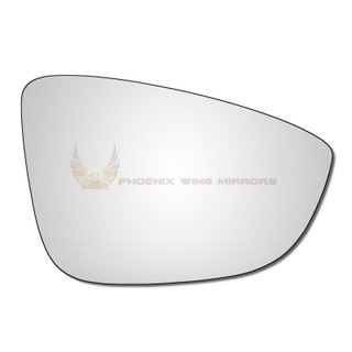 Right Hand Drivers Side VW Eos 2008-2015 Convex Wing Door Mirror Glass Uk Made!