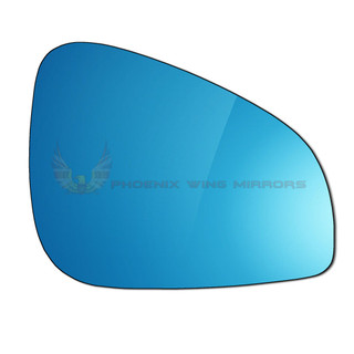 Right Drivers Side Peugeot 407 Facelift 2008-2016 Blue Convex Wing Mirror Glass