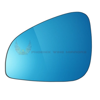 Left Passenger Side Peugeot 407 Facelift 2008-2016 Blue Convex Wing Mirror Glass