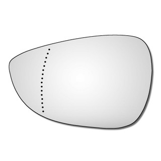 Left Hand Passenger Side Ford Fiesta Mk7 2008-2017 Wide Angle Wing Mirror Glass