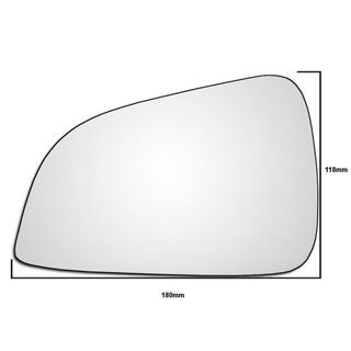 Left Hand Passenger Side Vauxhall Astra H 2009-2011 Wing Door Mirror Glass