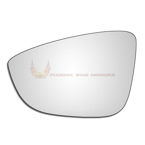Left Hand Passenger Side VW Eos 2008-2015 Convex Wing Door Mirror Glass Uk Made!