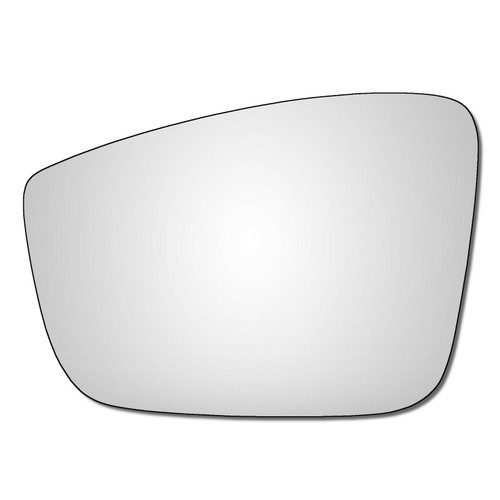Left Hand Passenger Side Skoda Fabia Mk3 2014-2020 Convex Wing Door Mirror Glass