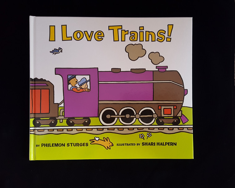 Hardback Child's book about trains.15
