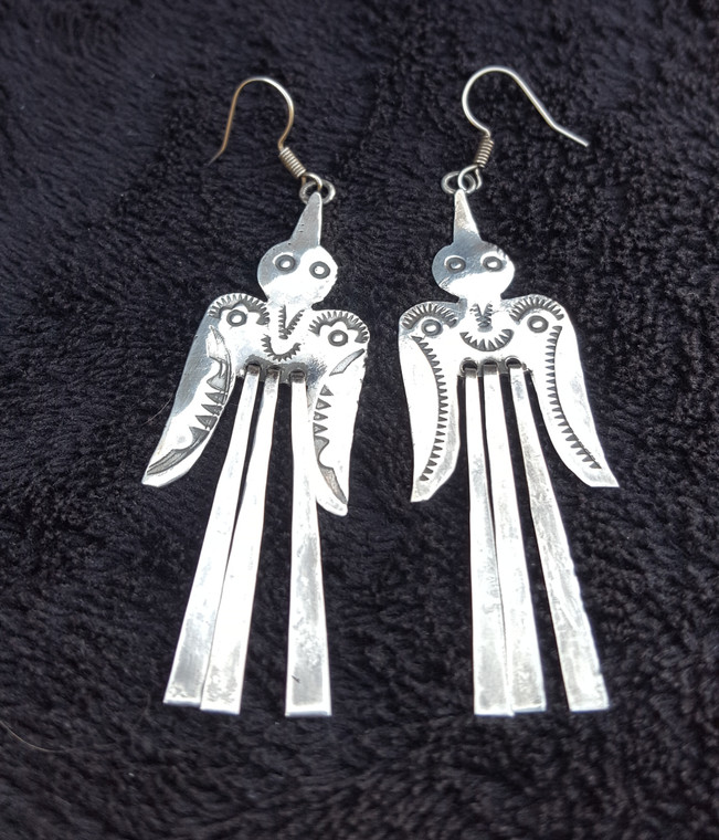 Sterling Silver Dangley Bird Earrings