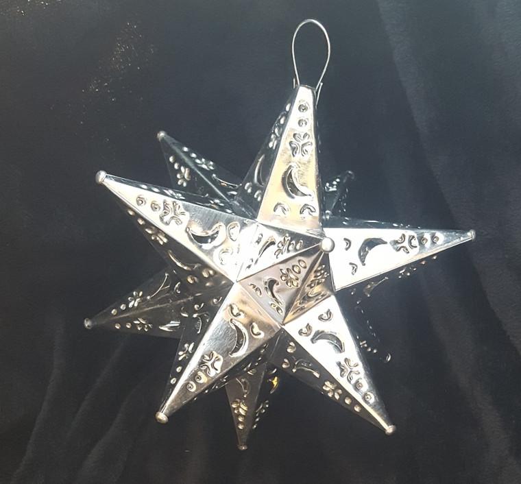 Tin Star with Moon