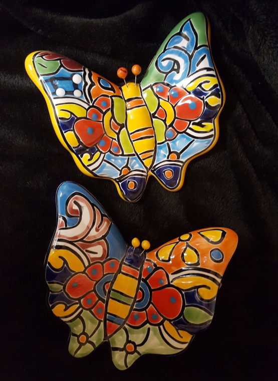 Hand painted Talavera Butterfly Made in Mexico