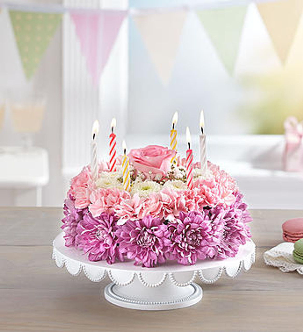Birthday Wishes Flower Cake™ Pastel | Portland Oregon ...