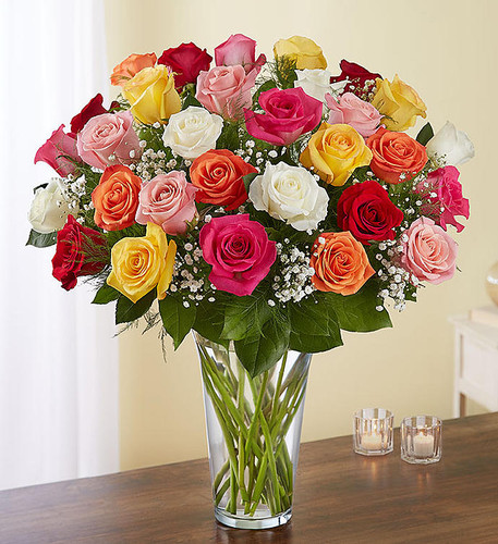 Ultimate Elegance™ 3 Dozen Long Stem Assorted Roses