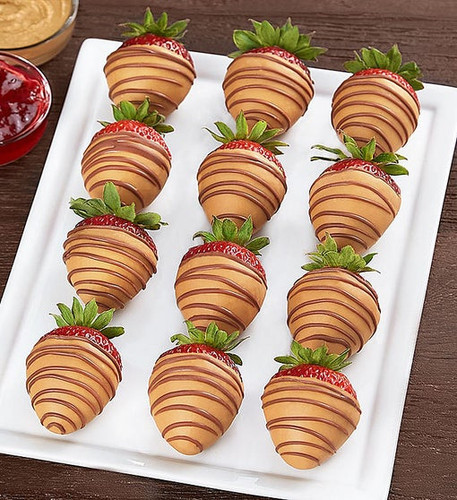 "Peanut Butter & ""Jelly"" Strawberries"