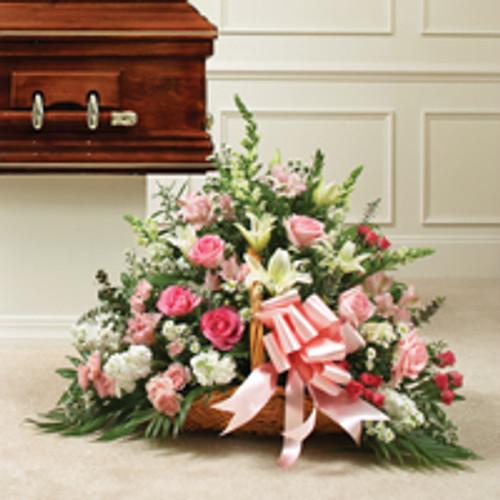 Pink & white Mixed Fireside Basket