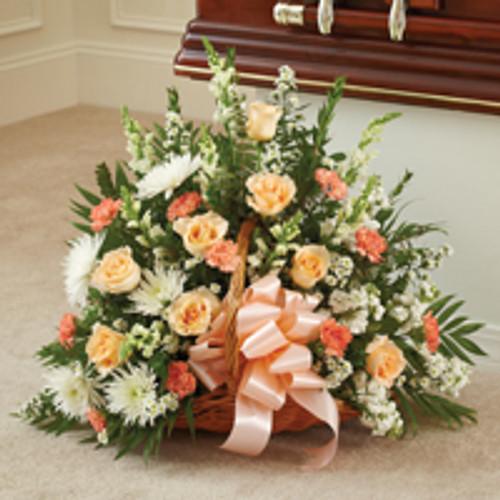 Peach, Orange & White Mixed Fireside Basket