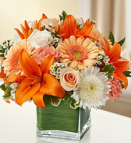 Healing Tears - Peach, Orange & White