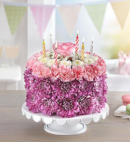 Birthday Wishes Flower CakeTM Pastel