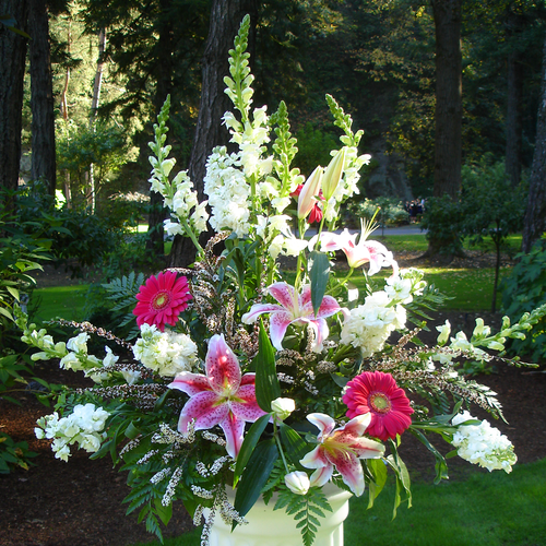 Pink & White Vase (SA2016)