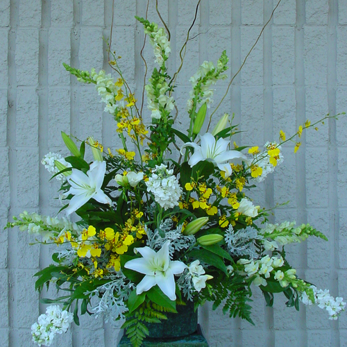 Yellow & White Vase (SA2055)