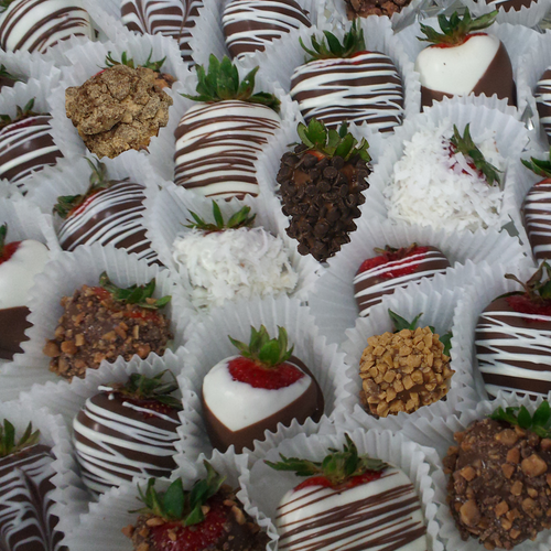 4 to 8 Dozen Bulk - Chocolate Dipped Strawberries - Premium Assortment (BSP-4896)