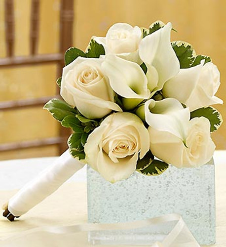 All White Petite Bouquet
