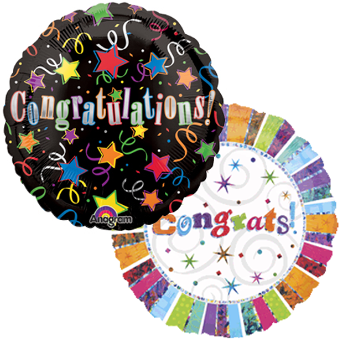 Congratulations Mylar Balloons (2)