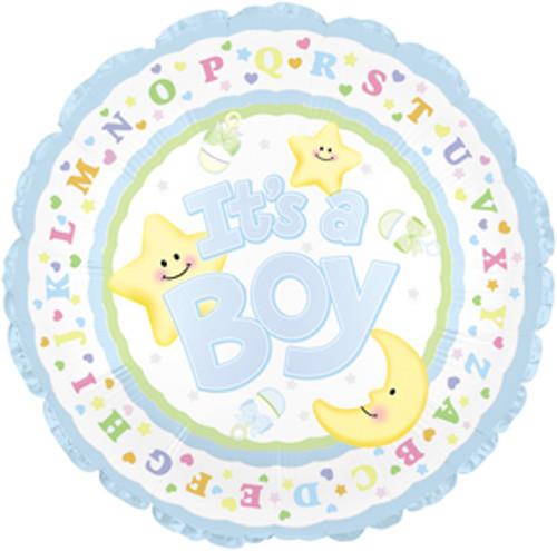 New Baby Boy Mylar Balloon (1)