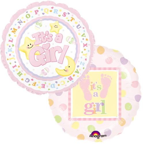 New Baby Girl Mylar Balloon (2)