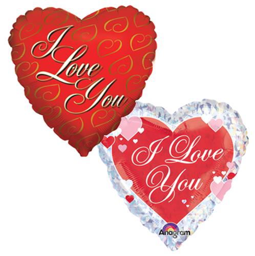 I Love You Mylar Balloons (2)