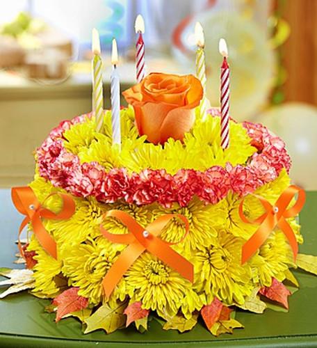 Birthday Flower CakeR For Fall