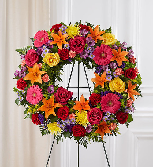 Serene Blessings™ Standing Wreath- Bright