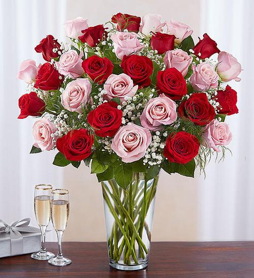 Ultimate Elegance™ 3 Dozen Long Stem Pink & Red Roses