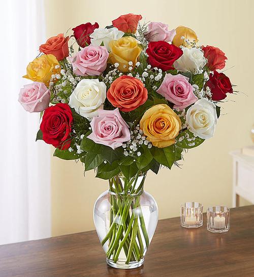 Ultimate Elegance™ 2 Dozen Long Stem Assorted Roses