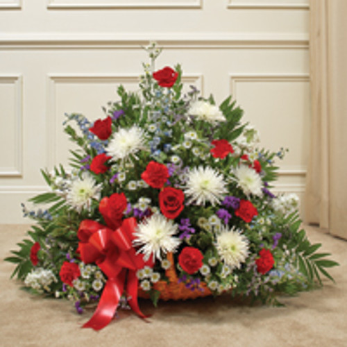 Red, White  & Blue Mixed Fireside Basket