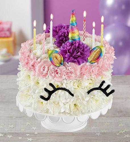 Birthday Wishes Flower Cake Unicorn Portland Oregon Florist Nancy S Floral Gresham Or