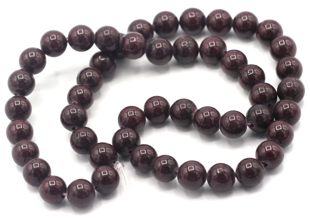 """15"""" Strand 8mm Dyed Mountain """"Jade"""" Beads, Cocoa"""