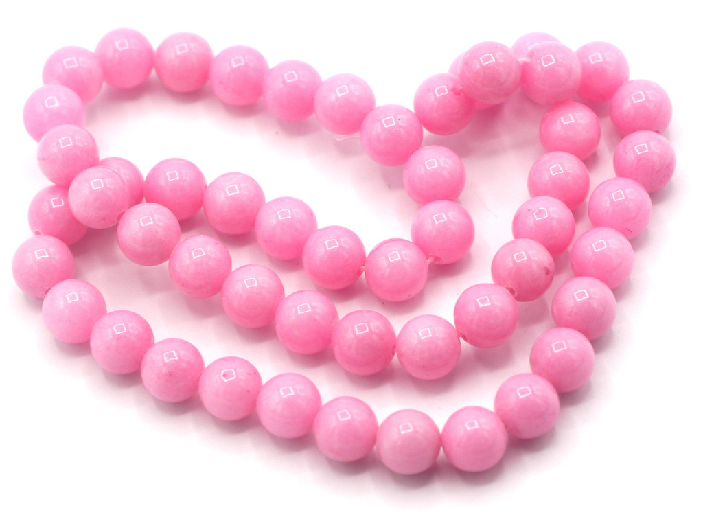"15"" Strand 8mm Dyed Mountain ""Jade"" Beads, Pink"