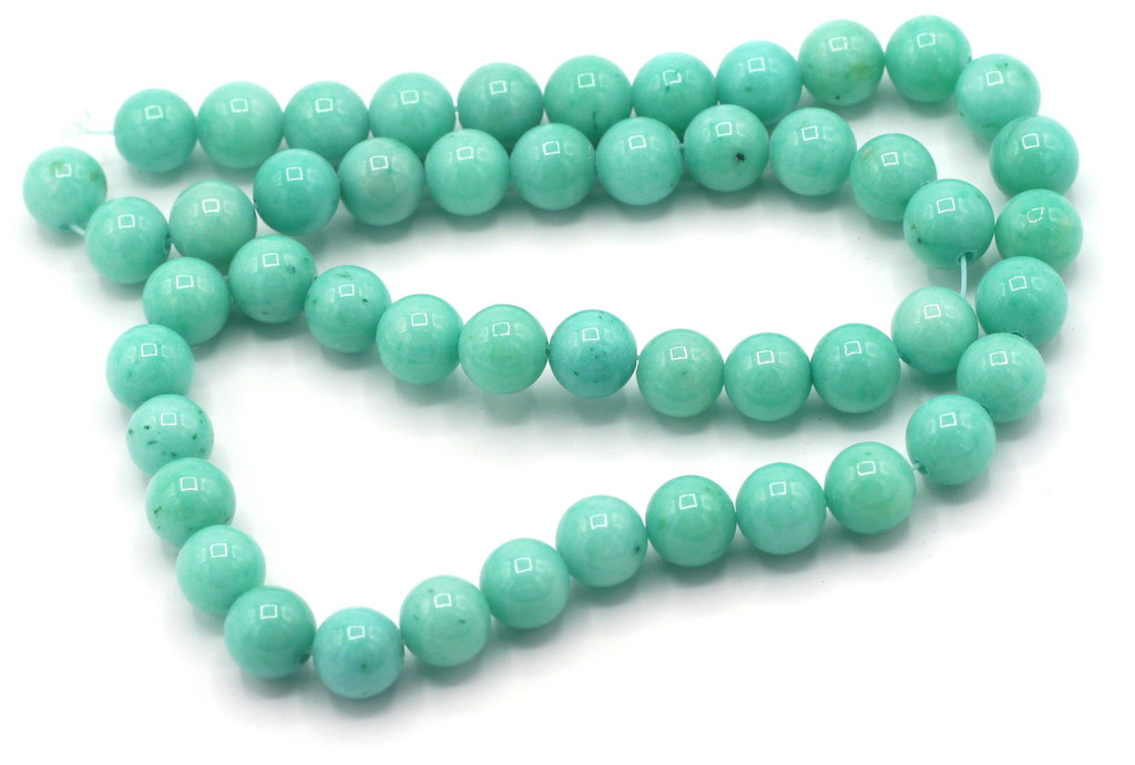 "15"" Strand 8mm Dyed Mountain ""Jade"" Beads, Turquoise Blue"