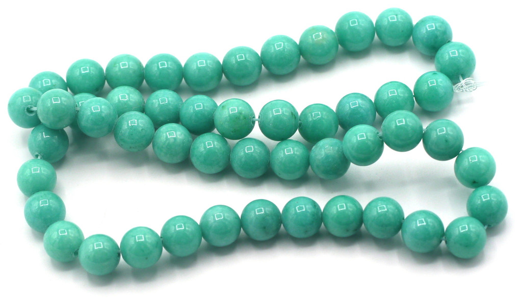 """15"""" Strand 8mm Dyed Mountain """"Jade"""" Beads, Turquoise Green"""