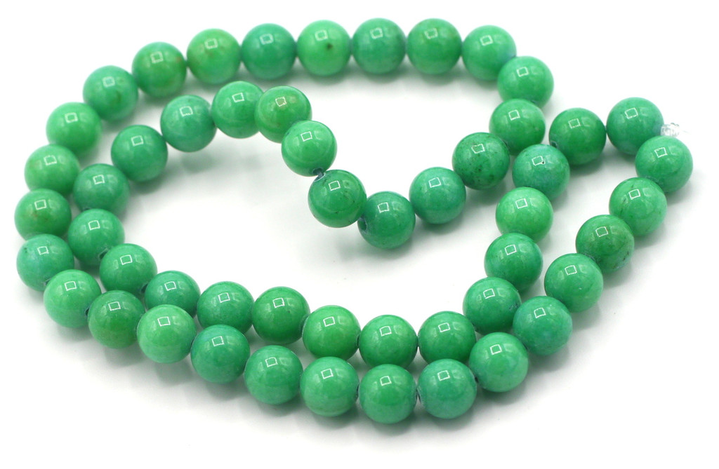 "15"" Strand 8mm Dyed Mountain ""Jade"" Beads, Sea Green"