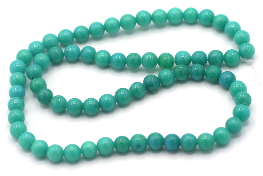 """15"""" Strand 6mm Dyed Mountain """"Jade"""" Beads, Turquoise Green"""