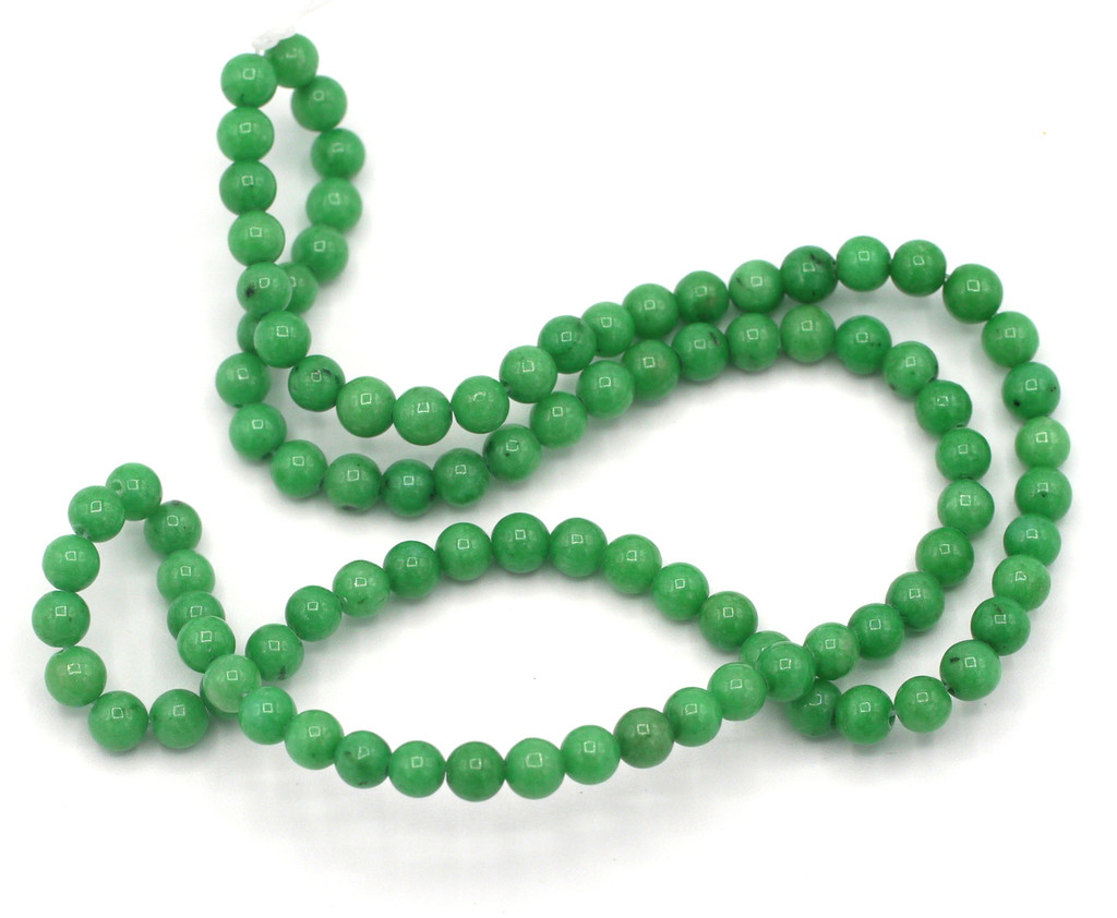 "15"" Strand 4mm Dyed Mountain ""Jade"" Beads, Sea Green"