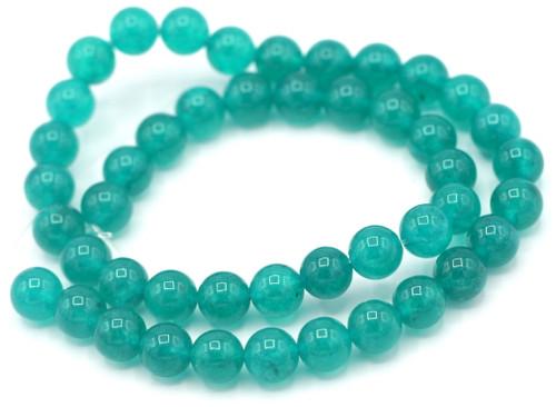 """14.5"""" Strand 8mm Quartz Round Beads, Aqua Waves"""