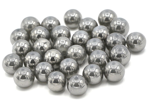 30pc 10mm Metallic Glass Beads, Gray