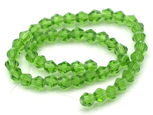 48pc 6mm Crystal Bicone Beads, Fern