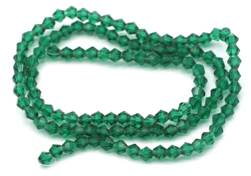 100+pc 4mm Crystal Bicone Beads, Teal