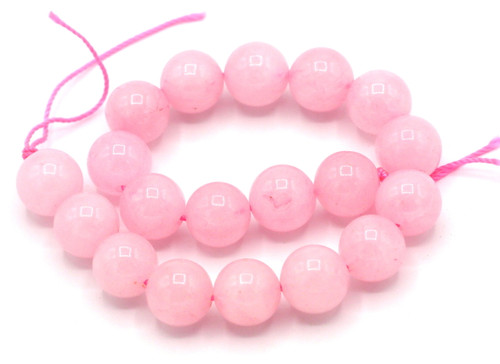 "7.5"" Strand 10mm Rose Quartz Round Beads"